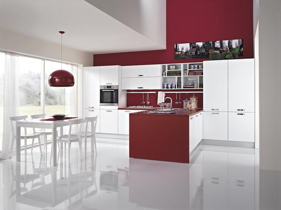 Cucina penisola bordeaux cucina lineare cm con - Cucina bordeaux ...