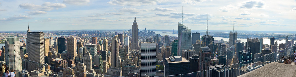 panoramic view from the rockefeller center new york city flickr