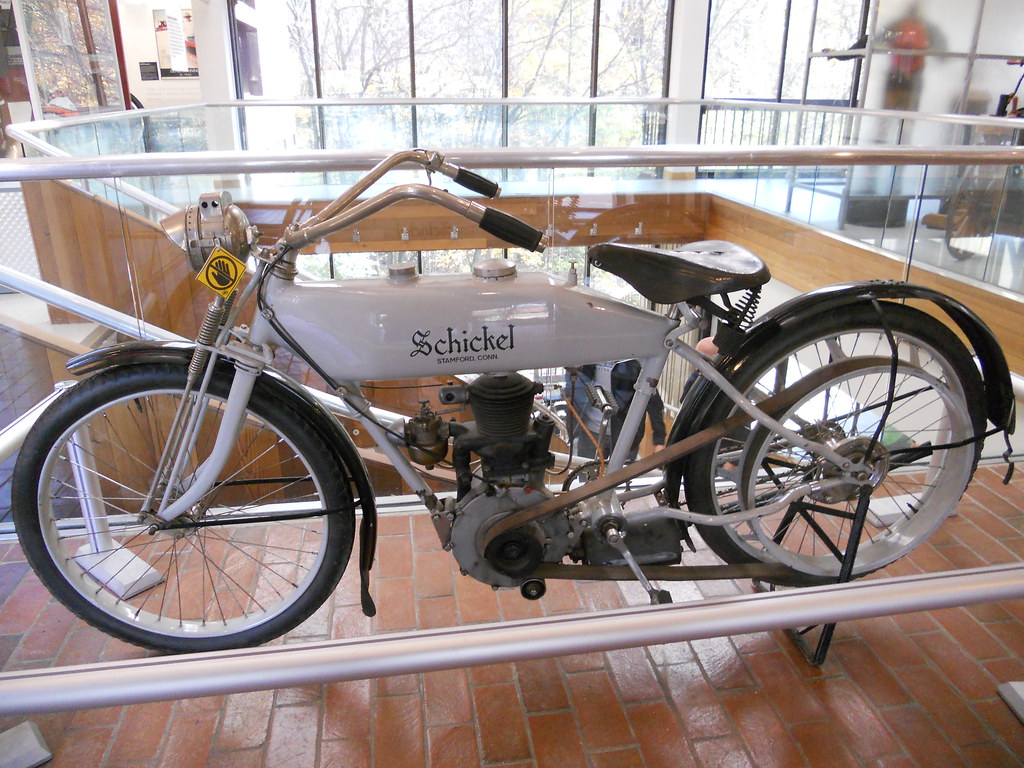 A Rare 1913 Schickel Motorcycle On Loan From The Schickel