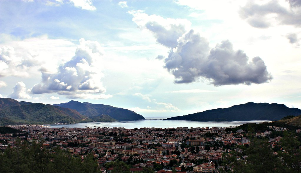 marmaris from a mountain.  marmaris is a really splendid ...
