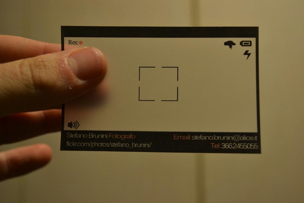 Favoloso Biglietto da visita fotografo | Biglietto da visita traspare… | Flickr ZP43