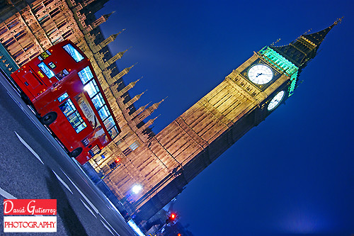 London Red Bus in Blue Sky | by davidgutierrez.co.uk