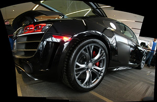 Autostitch of an Audi R8 at the Ottawa-Gatineau Autoshow. | by Steve Brandon