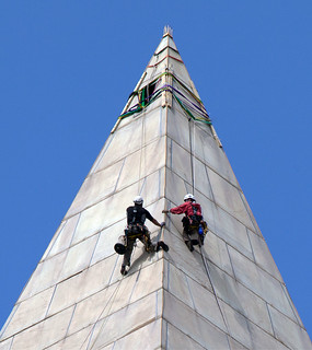 Crew Rappelling The Washington Monument | by Talk Radio News Service