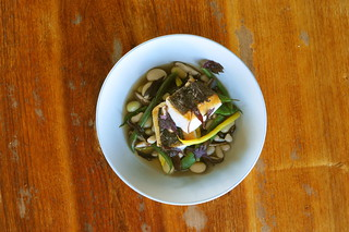 California Black Cod with Shiitake-Umeboshi Broth | by Almanac Beer