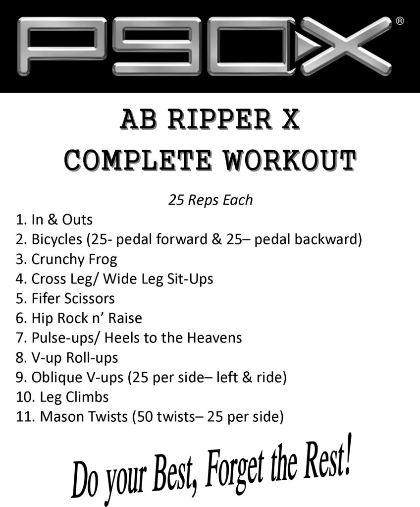 Ab Ripper X Workout Routine