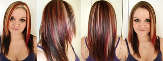 red-highlights | by vanmobilehair