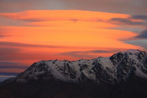 remarkables sunset over hill | by mike&sheba