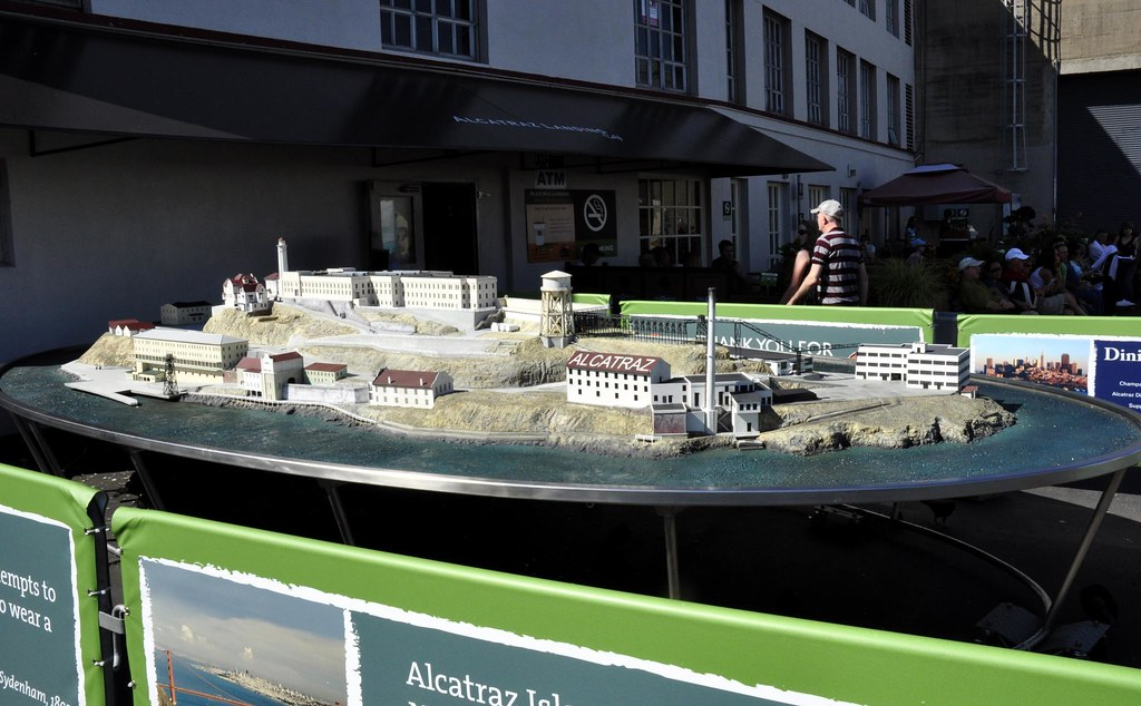 national parks scale model of alcatraz