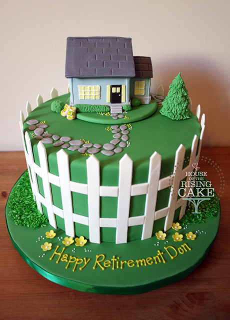 Retirement cake. The final design has the Weed Man logo ...