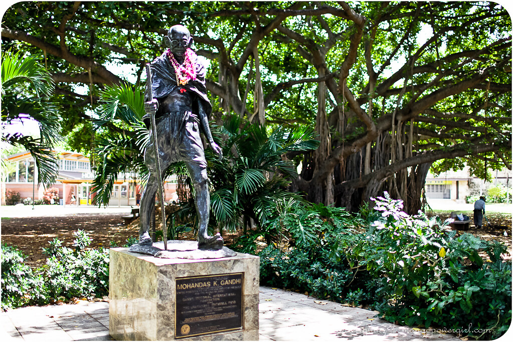 gandhiji walking in honolulu