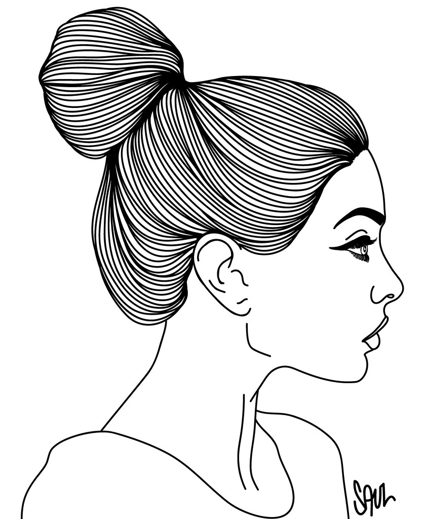 Line Drawing Face Profile : Untitled jennifer charlotte saul flickr
