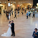 newlyweds in Grand Central Station