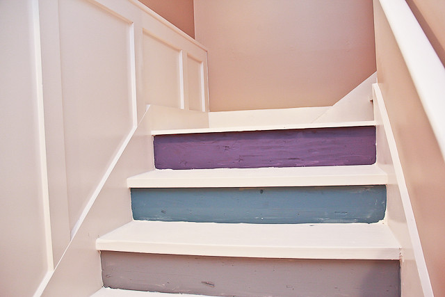 Painted Basement Stairs With Board And Batten 15 Of 26