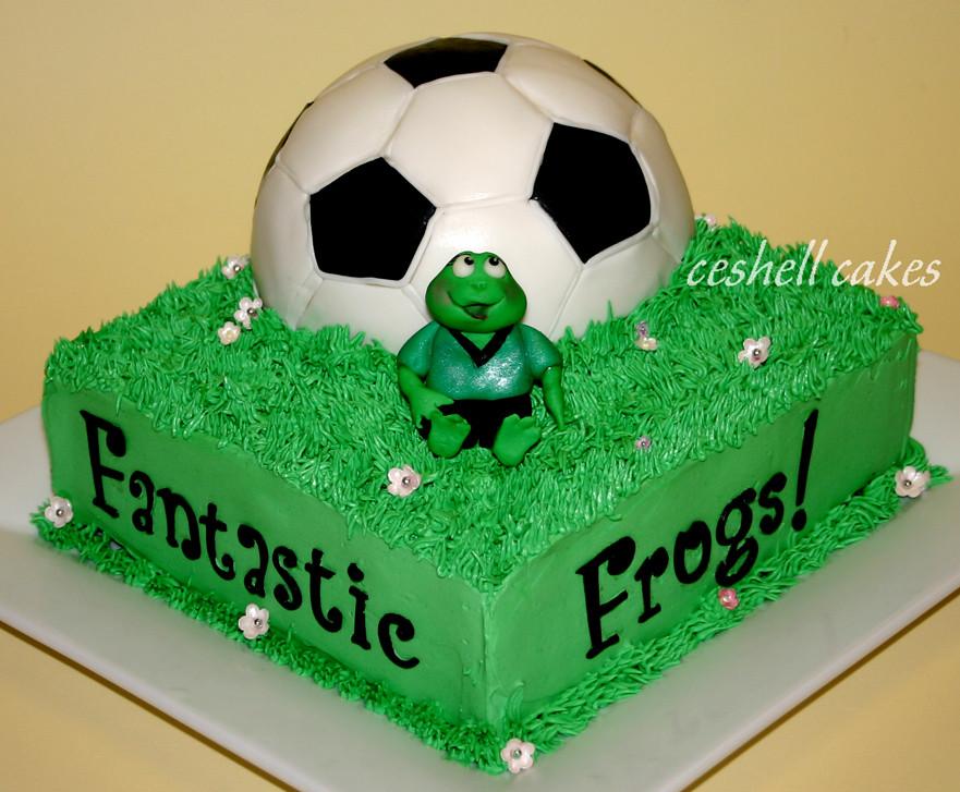 Images Of Soccer Ball Cake : Soccer Ball Cake End of the season soccer ball cake with ...