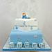 Baby blocks cake