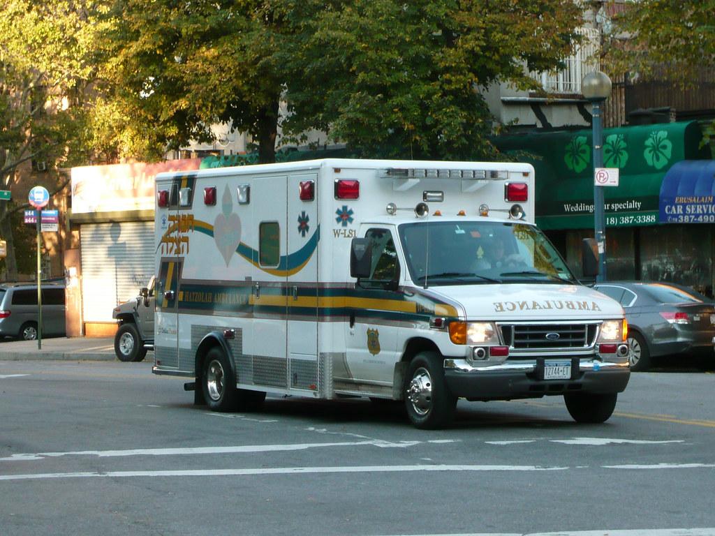 Hatzolah Ambulance Around Bedford Avenue Brooklyn