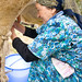 Galima Muhametarimovna collects five to six liters per day of milk