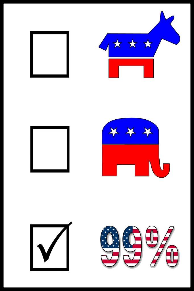 Nonpartisan Democrat Republican 99 Percent Poster | Democrat… | Flickr