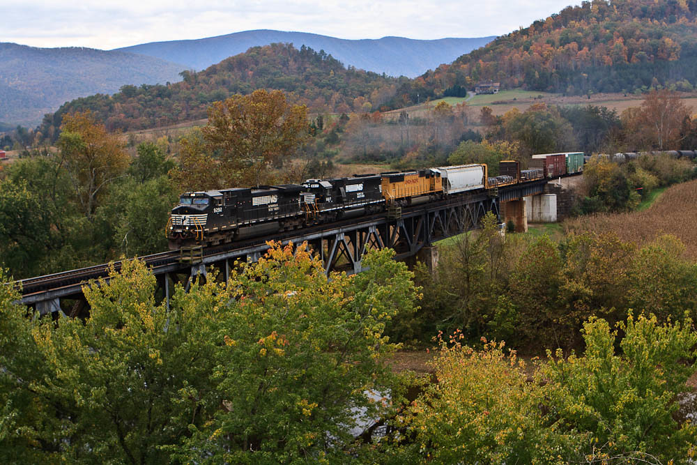 Over The James A Northbound Mixed Manifest From Roanoke