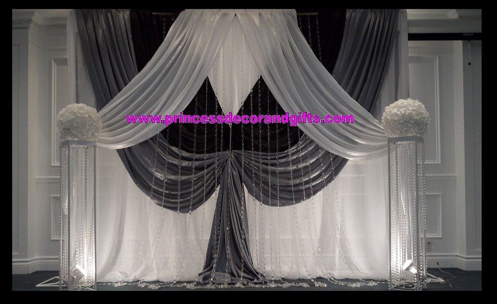 Black Silver White Backdrop Wedding Ceremony Decor Flickr