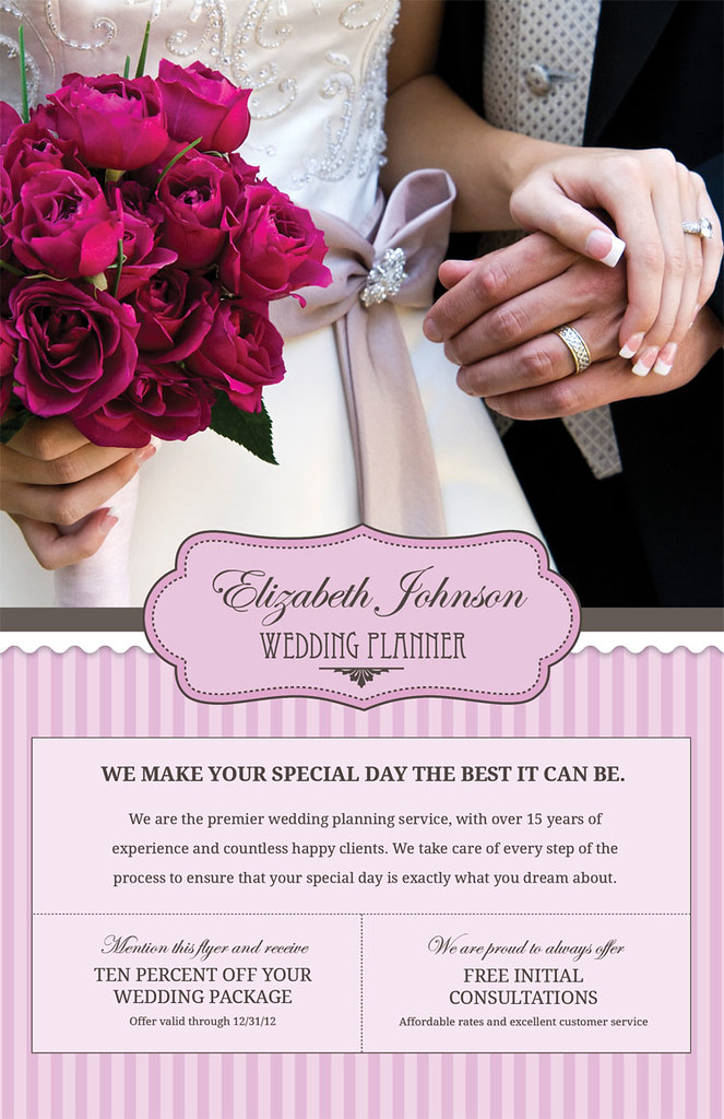 Wedding Planner Flyer Front New Customizable Flyer For