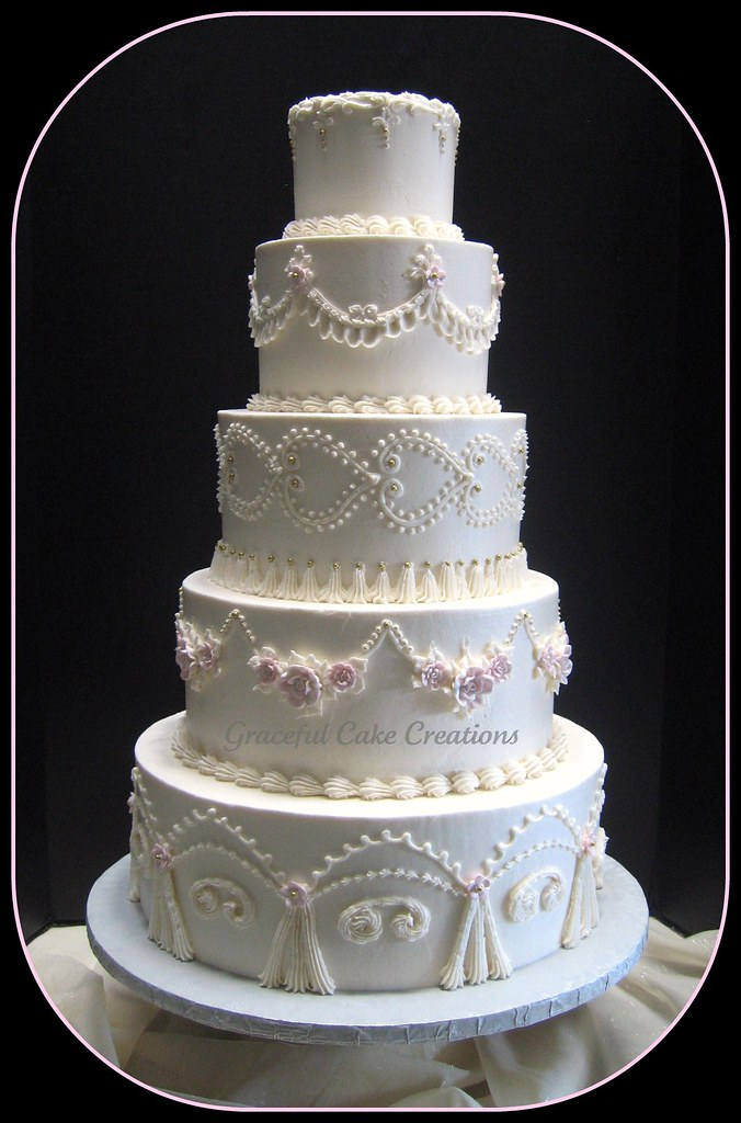 Blue And Ivory Wedding Cakes