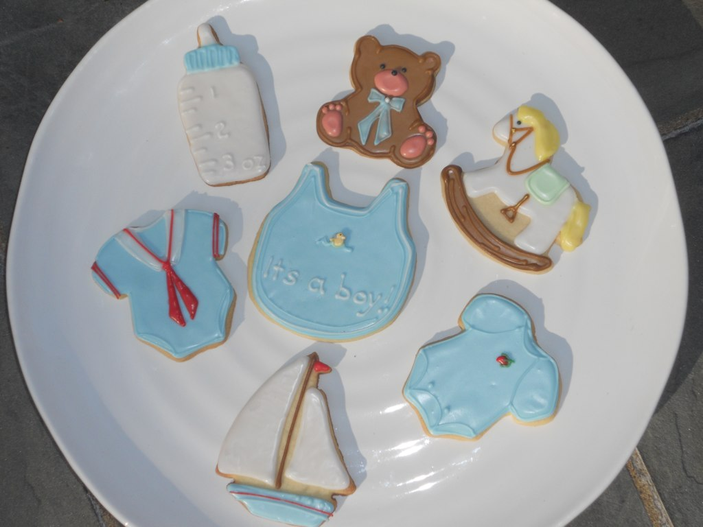 Baby Boy Shower Cookies This Shower Is For A Baby Boy Whos Flickr