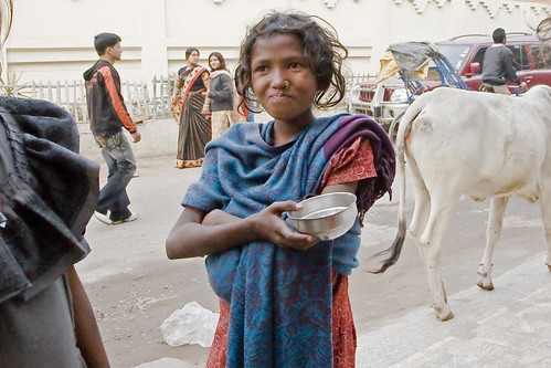 23 4 indian children beggar girl with begging cup flickr