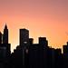Manhattan sunset scales