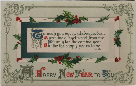 Happy New Year >> A Happy New Year to You, vintage postcard, c.1917   Vintage …   Flickr