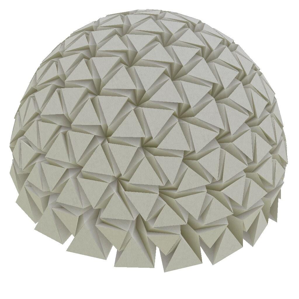Origami Hemisphere | Origamized by generating generalized ... - photo#1