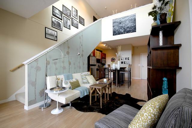 Lake Calhoun City Apartments In Uptown Minneapolis Mn Apartment Model Living Room Kitchen