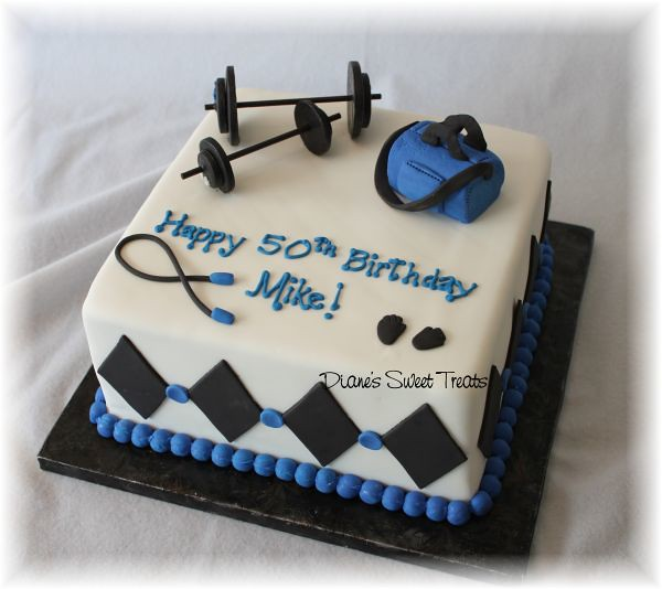 50th Birthday Cake For Body Builder Weight Lifter Flickr