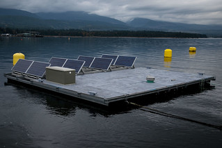 Solar Flupsy anchored in the grid | by VIUDeepBay