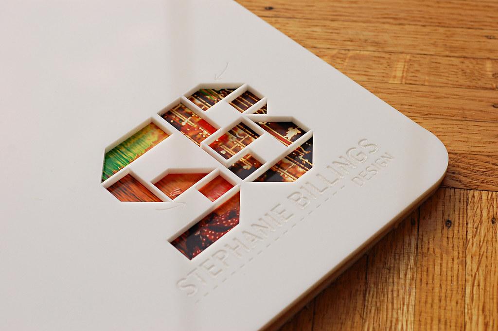 Custom 11 X 14 White Acrylic Portfolio Book With Logo Engr