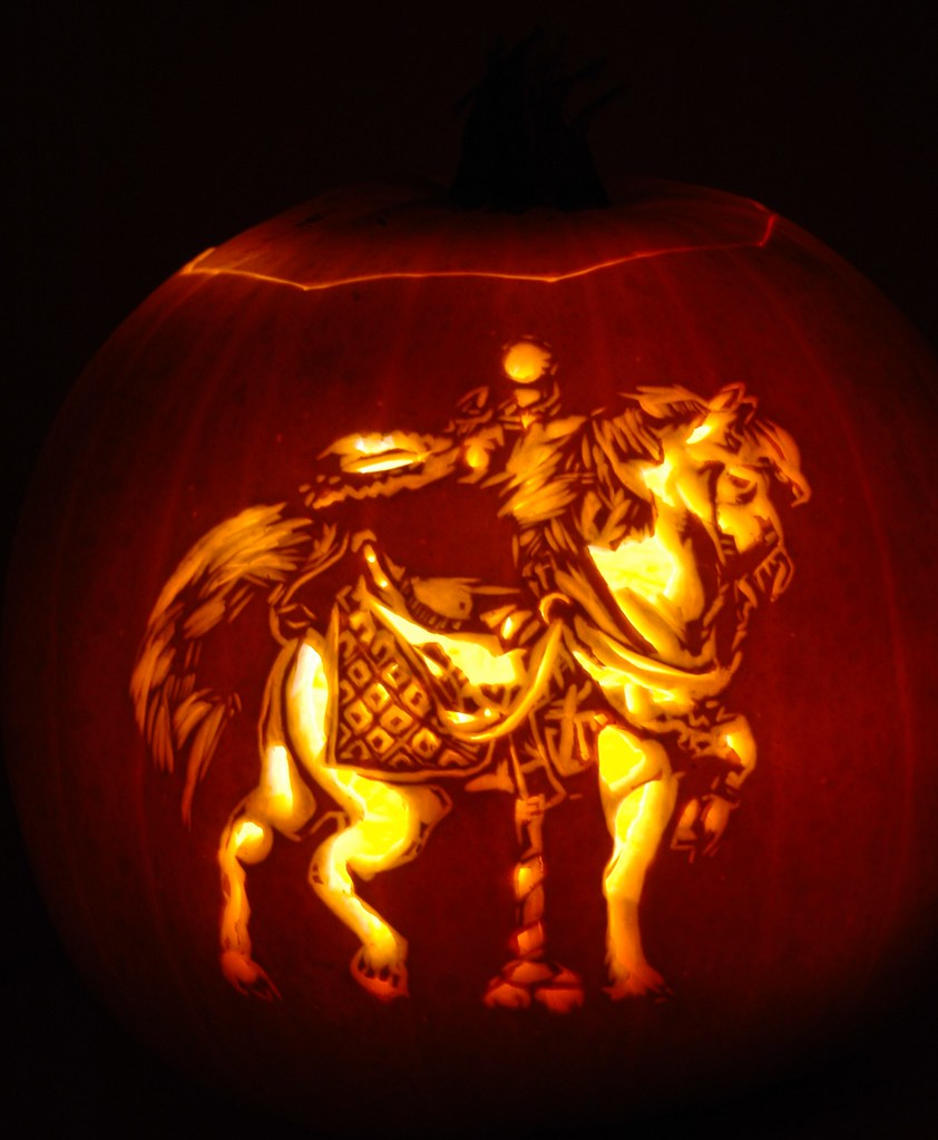 Carousel Horse #1 | A carousel horse carved into a pumpkin. … | Flickr