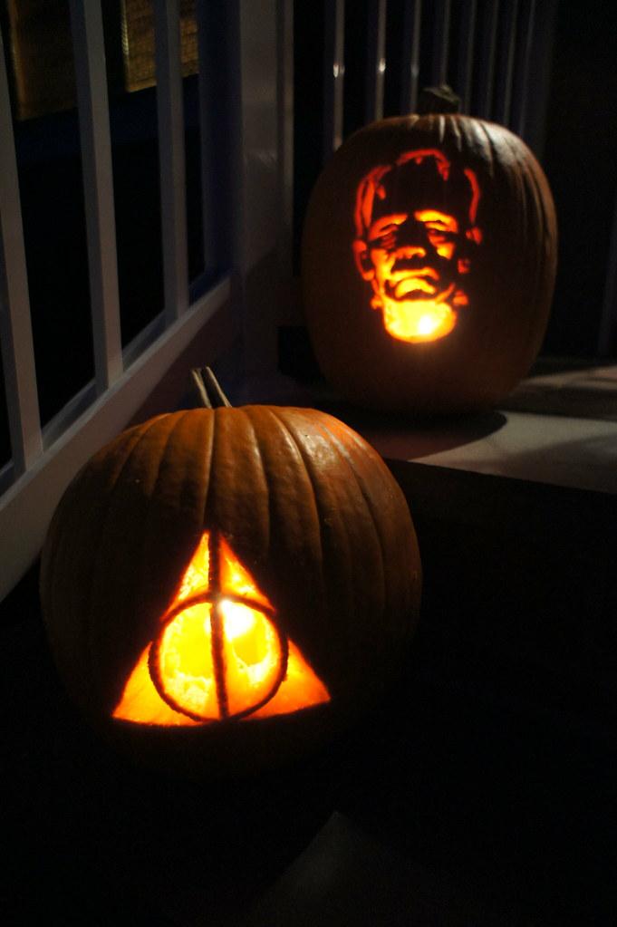 Deathly Hallows Symbol And Frankenstein Monster Lance Ulanoff Flickr