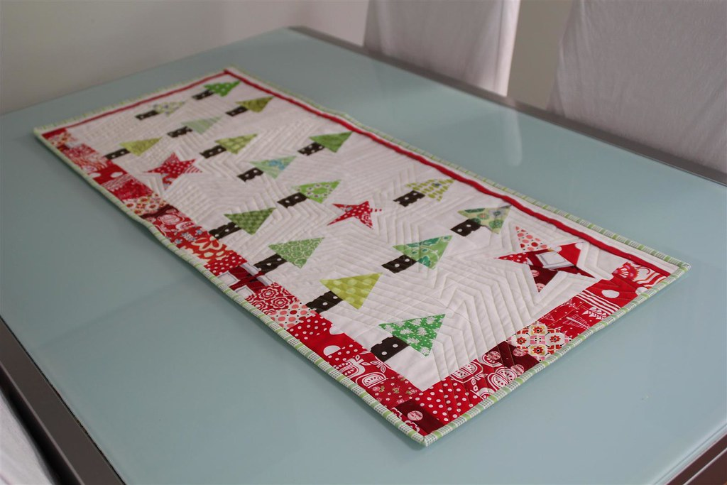 Christmas Table Runner Completely Finished Quilted