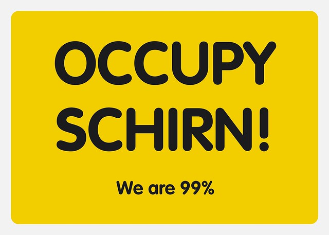 Occupy Schirn Postkarte. We are 99%. 2. Auflage Oktober 2011