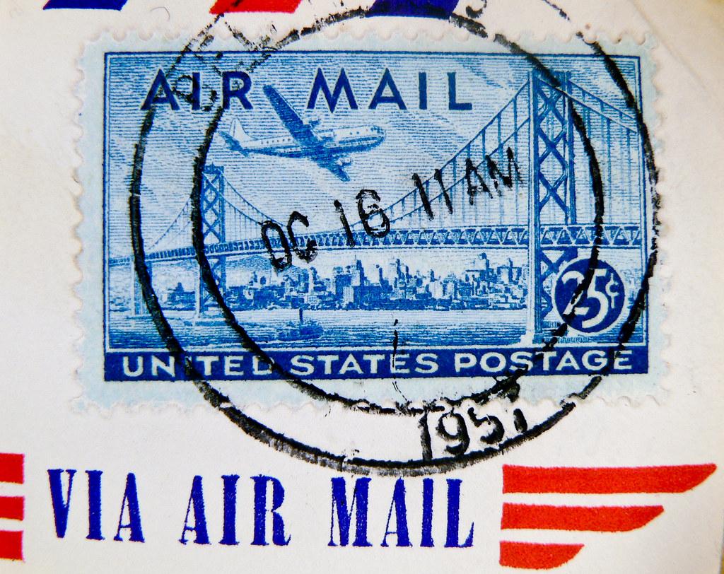 International airmail postage rates