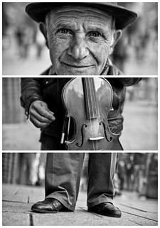 Triptychs of Strangers #26, The Fingercounting Violinist - Hamburg | by adde adesokan