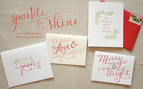 Letterpress Holiday Cards | by Sarah Parrott