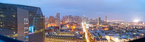 San Francisco Federal Building and Panorama from the SOMA Grand at Dusk | by ToastyKen