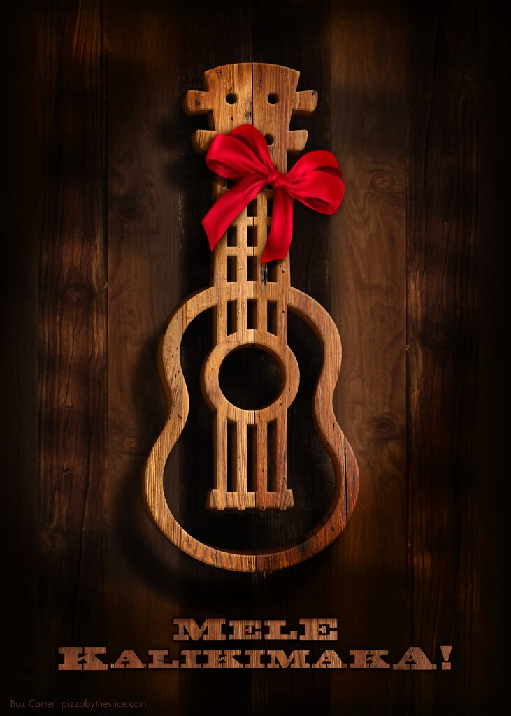 Mele Kalikimaka Ukulele Christmas Card, Hawaiian | Available… | Flickr
