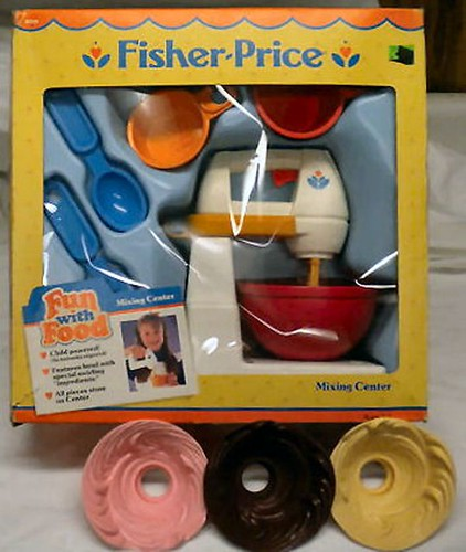 Fisher Price Toy Food : Fun with food mixing center  fisher price flickr