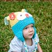 Yellow & Teal Owly Hat