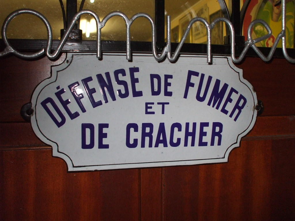 Defense De Fumer Et Cracher Email 34×16 Matlamenace17 Flickr