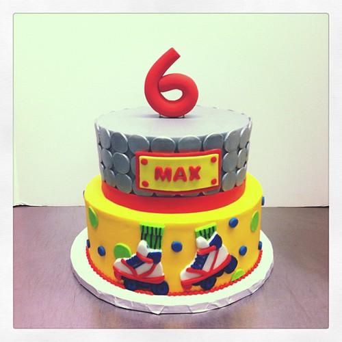 Skate Birthday Cake