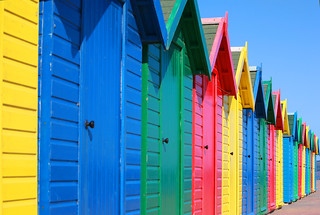 Colourful Beach Huts | by Martin Peers
